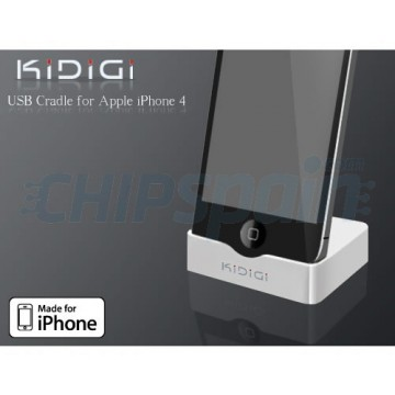 Base de Carga KiDiGi iPhone 4/4S Blanco