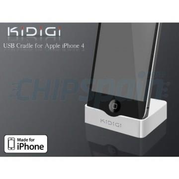 Base de carregamento KiDiGi iPhone 4/4S -Branco