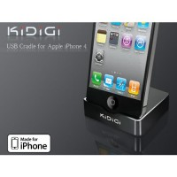 Base de Carga KiDiGi iPhone 4/4S - Negro