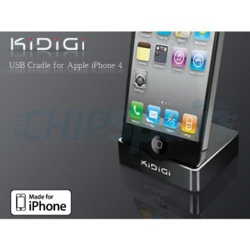 Base de Carga KiDiGi iPhone 4/4S Negro