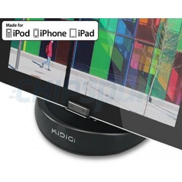 Base de carregamento KiDiGi iPad/iPad 2/iPad 3 -Preto