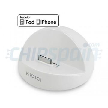 Base de carregamento KiDiGi iPod/iPhone -Branco