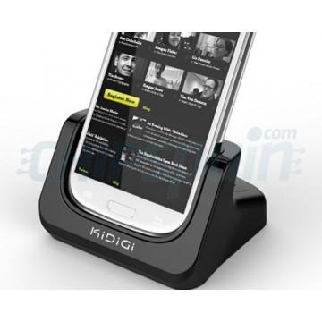 Carregamento da base da bateria 2 da ranhura KiDiGi Samsung Galaxy SIII