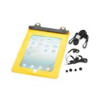 Funda Impermeable al Agua Con Auriculares iPad 2/Nuevo iPad -Amarillo