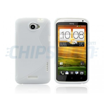 Funda S-Line Series HTC One X -Blanco