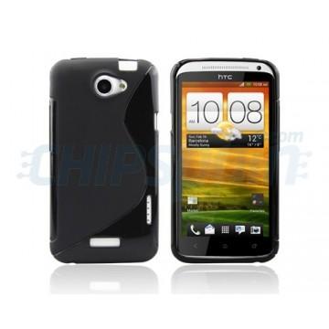 Funda S-Line Series HTC One X -Negro