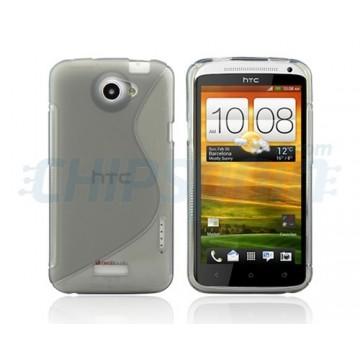 Caso S-Line Series HTC One X -Cinzento