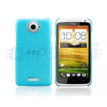 Carcaça Dayglow Series HTC One X -Azul Claro