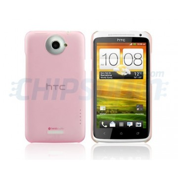 Carcasa Dayglow Series HTC One X -Rosa