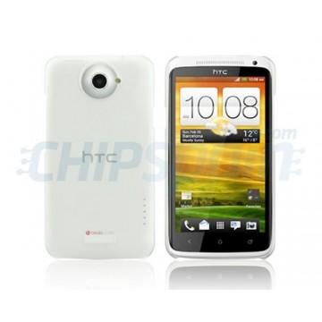 Carcaça Dayglow Series HTC One X -Transparente