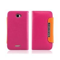Funda Wallet Series Flip HTC One X -Magenta