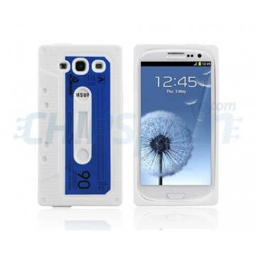 Case Cassette Series Silicone S. Galaxy S3 -Blue