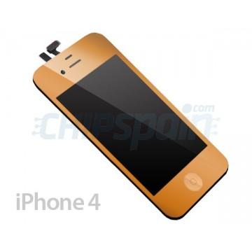 Pantalla Completa iPhone 4 - Oro Metalizado