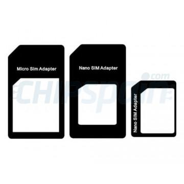 Adaptador Pack NanoSIM e MicroSim-preto