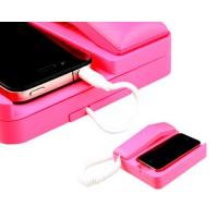 Teléfono Retro para iPhone 4 -Magenta