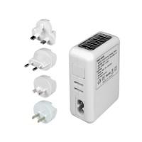 Adaptador AC 5 en 1 con 4 puertos USB de Carga