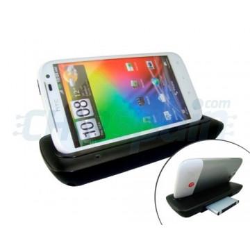 Base de carregamento/sincronização + 2 entalhe da bateria Mikosi HTC Sensation XL-Preto