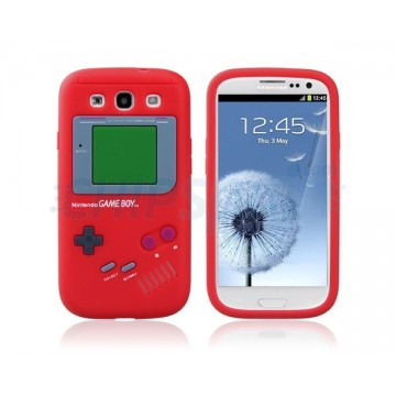 Carcaça Game Boy Series Samsung Galaxy S3 -Vermelho