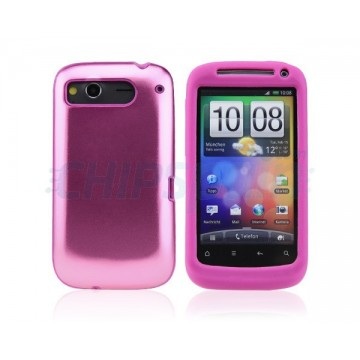 Funda Real Metal Series HTC Desire S -Rosa