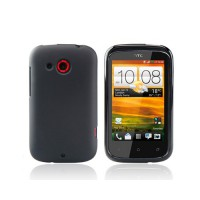 Funda Silicona Dayglow Series HTC Desire C -Negra