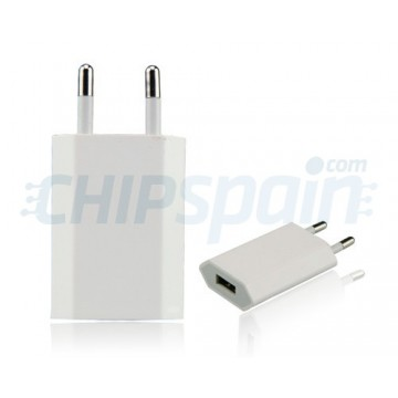 Adaptador de Corriente a USB -Blanco