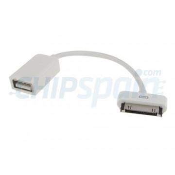 Cable USB OTG Samsung Galaxy Tab -Blanco