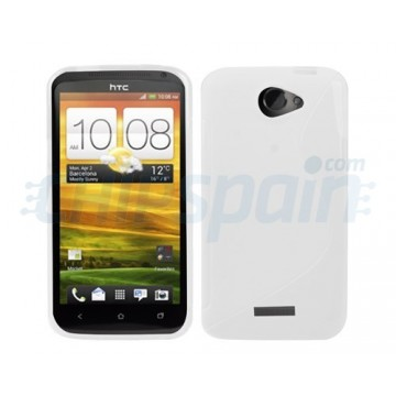 Funda S-Line Series HTC One S -Blanco