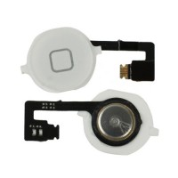 Buttom Home + Wire Flexible iPhone 4S -White