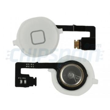 Botón Home + Cable Flexible iPhone 4S -Blanco