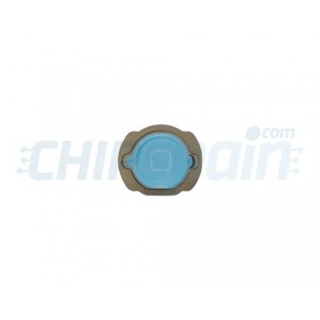 Home Button iPod Touch Gen. 4 with Gasket -Light blue