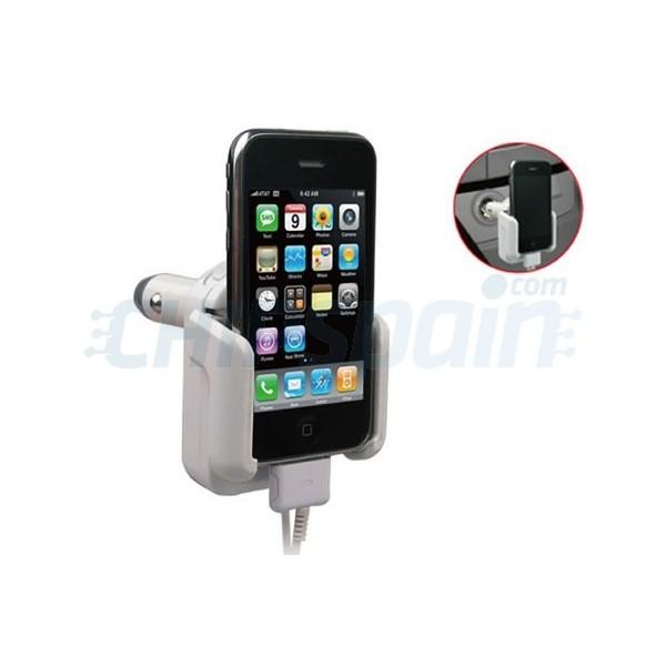 Soporte De Coche Para Iphone Ipod Blanco Chipspain Com