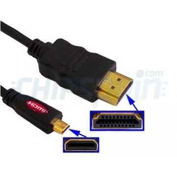 Male Micro-HDMI to HDMI male cable