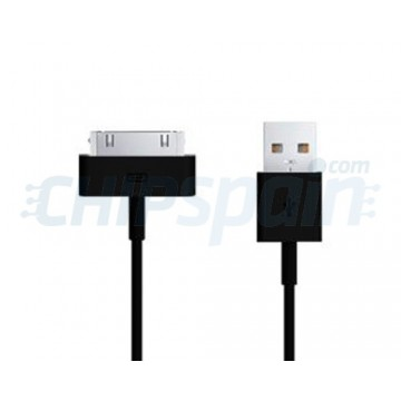 Cable USB a 30 PIN iPhone/iPad/iPod 1m -Negro