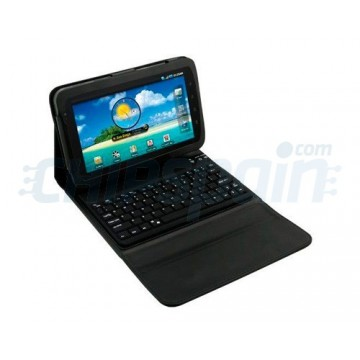 Support and Keyboard Case Bluetooth Galaxy Tab -Black