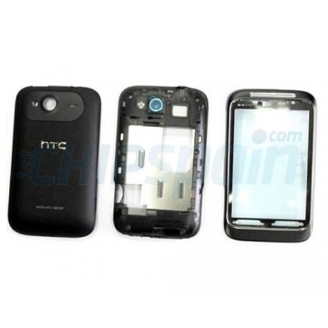 Carcasa Completa para HTC Wildfire S Negro
