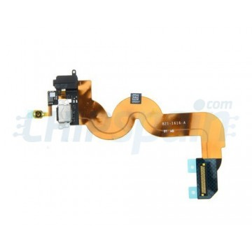 Cabo flexível de porta Lightning y Jack iPod Touch 5 Gen. -Preto