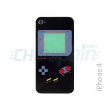Cristal y Marco Trasero iPhone 4 -Gameboy Negro