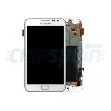 Pantalla Completa con Marco Samsung Galaxy Note -Blanco