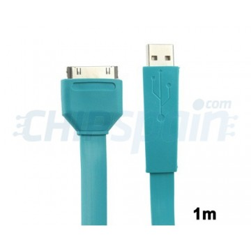 Cable Noodle USB a 30 PIN iPhone/iPad/iPod 1m Azul