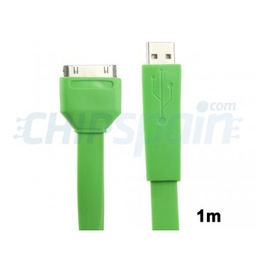 Cable Noodle USB to 30 PIN iPhone/iPad/iPod 1m -Green