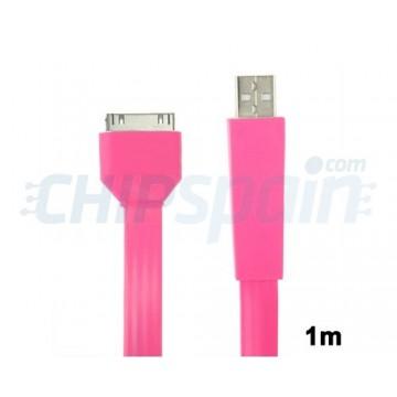 Cabo Noodle USB a 30 PIN iPhone/iPad/iPod 1m -Rosa