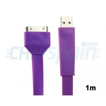Cabo Noodle USB a 30 PIN iPhone/iPad/iPod 1m -Purpura