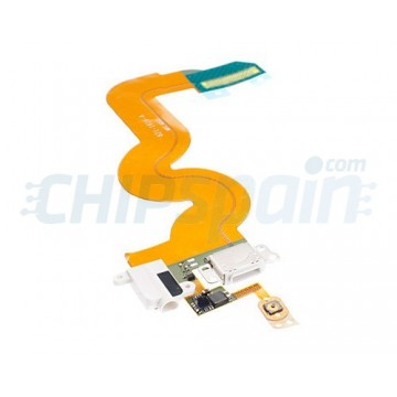 Cabo de porta flexível Lightning y Jack iPod Touch 5 Gen. -Branco