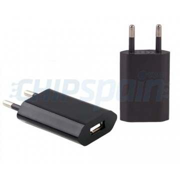 Adaptador de Corriente a USB Negro