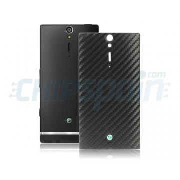 Tampa traseira da bateria Sony Xperia S/Arc HD-Black Carbon