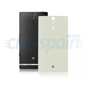 Tapa Trasera Bateria Sony Xperia S/Arc HD Blanco Carbono