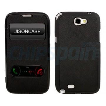 Case TPU Flip for Samsung Galaxy Note 2 -Black
