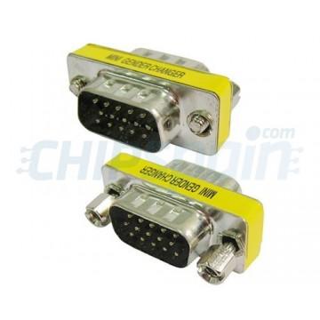 Adaptador VGA masculino para VGA 15 pinos masculino.