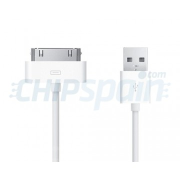 Cable USB a 30 PIN iPhone/iPad/iPod 1m Blanco