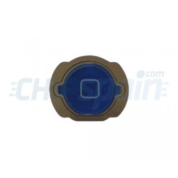 Botão Home iPod Touch Gen. 4 com gaxeta -Azul escuro